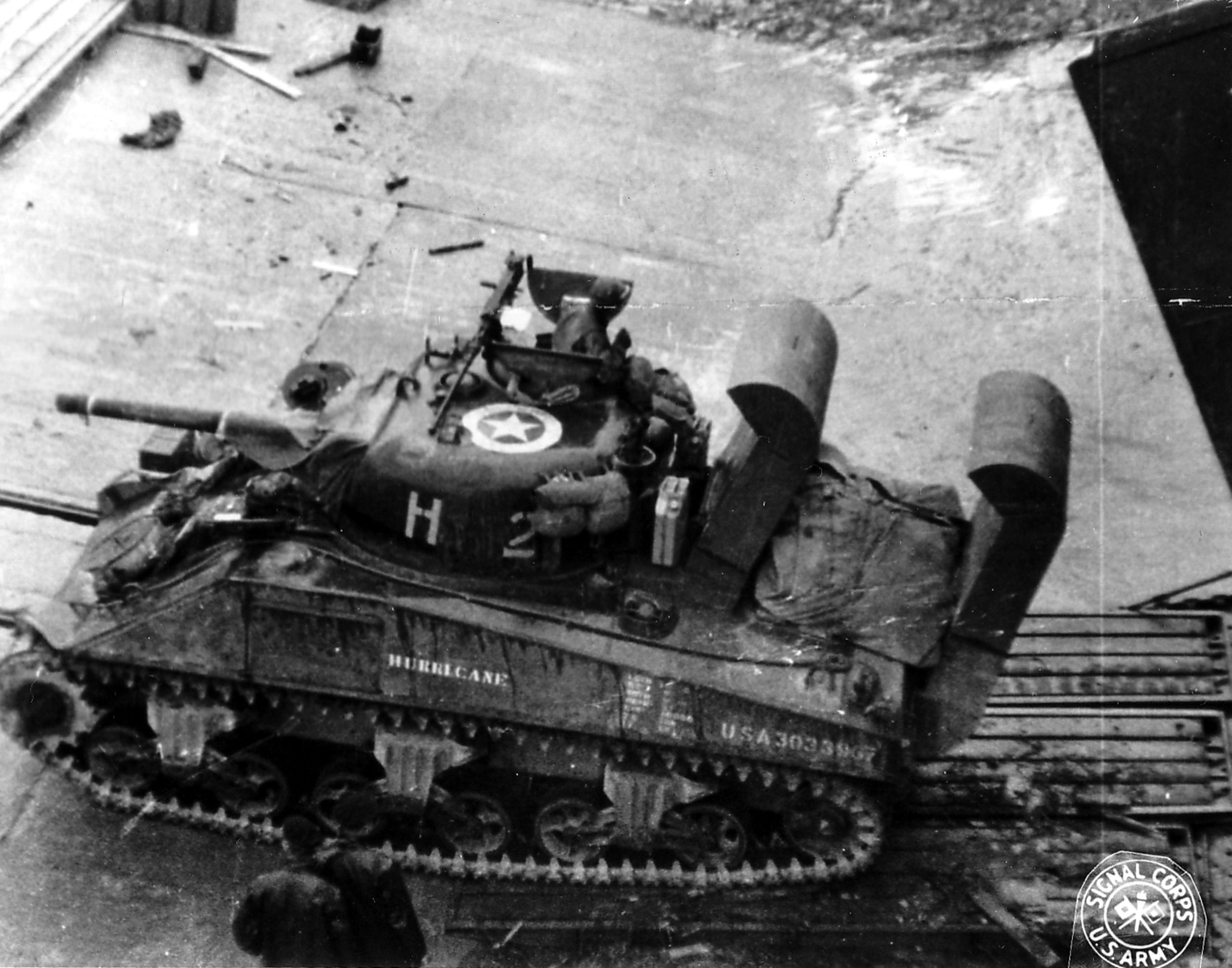 Top view of a Wading Gear Sherman