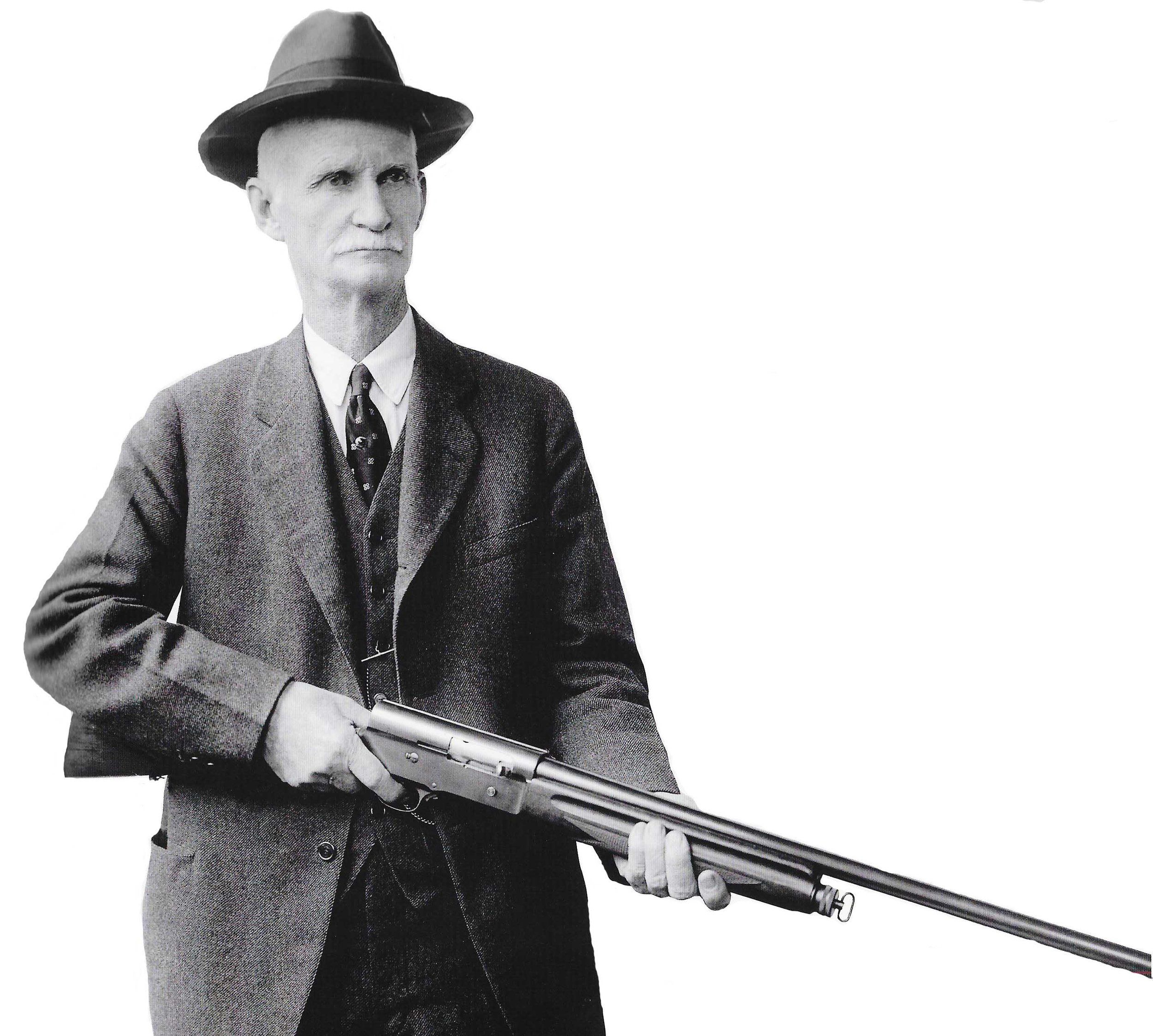 John Moses Browning, the Patron Saint of Firearm Design. Do not do injustice to this man's memory.