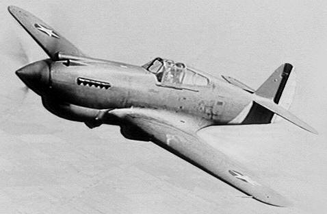 I couldn't find and verify any pictures of a 37th Pursuit Group P-40, so here's just a basic picture of a P-40 to give you an idea of what it was like. The guns located in the nose indicate that this is a very early variant. Most of the variants used in WWII had 4-6 .50 caliber guns in the wings instead.