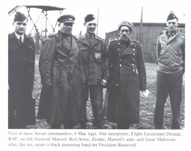 I'm going off topic here, but someday I'm going to track down more information on General Marozil. All I have to go on currently is that he worked for Borisov, his name might be Uzbeki, and there's two photographs of him with the Stalag Luft 1 prisoners.