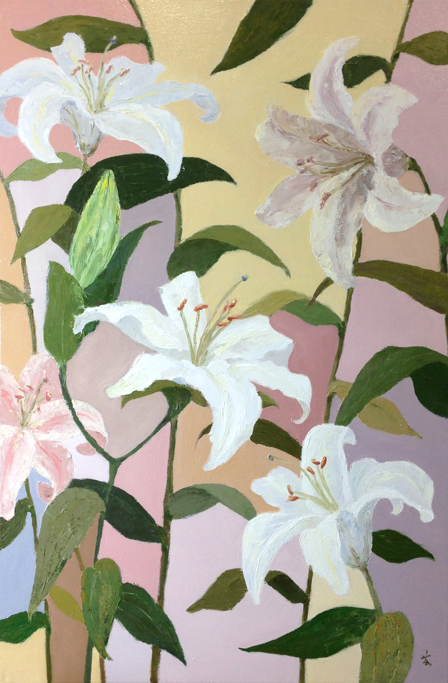 "Lilies, 36""x24"", oil on canvas, 2015"