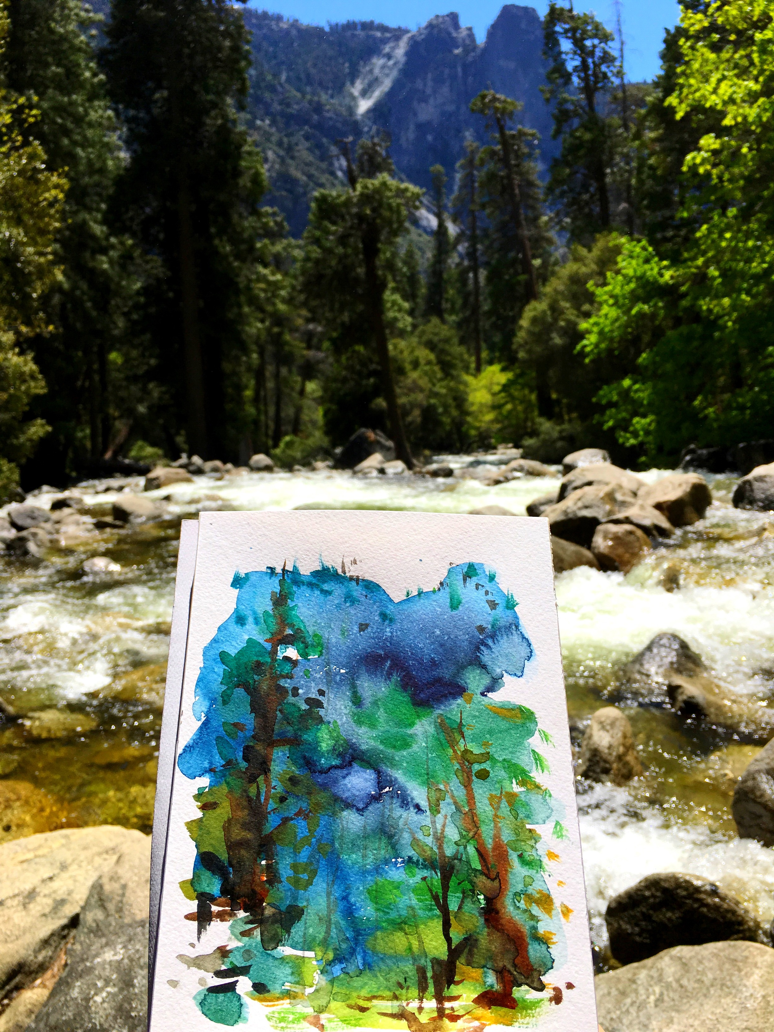 [Day30 of 100] Painted at Yosemite