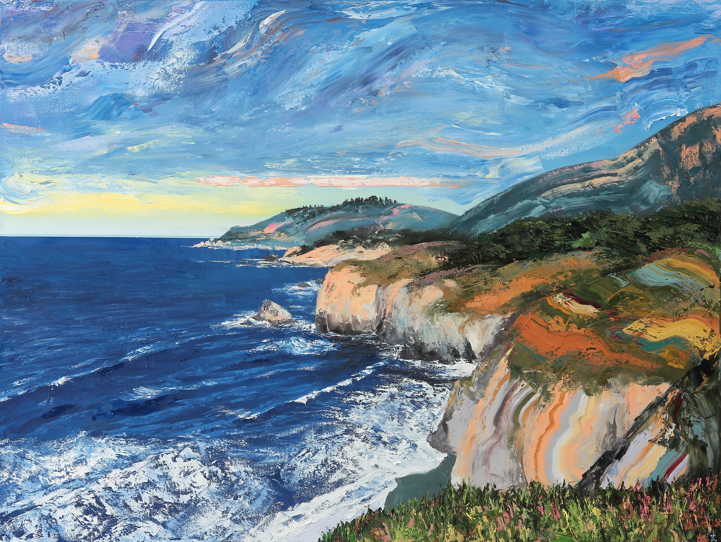 "Big Sur #1, 48""x36"", oil on canvas, 2017"