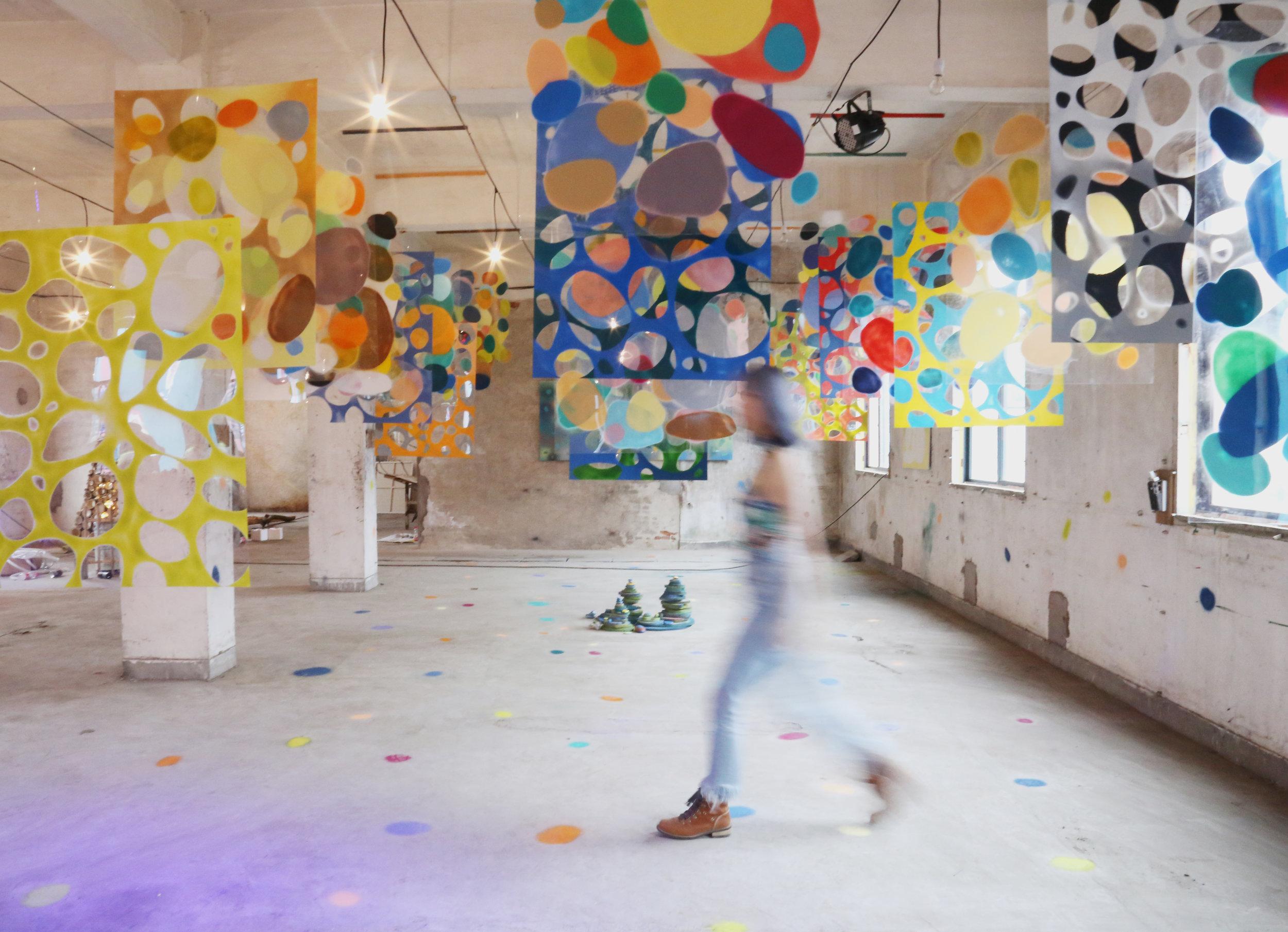 """Stone Jungle"" installation created by Haoyun Erin Zhao in Zhejiang, China. 2019."