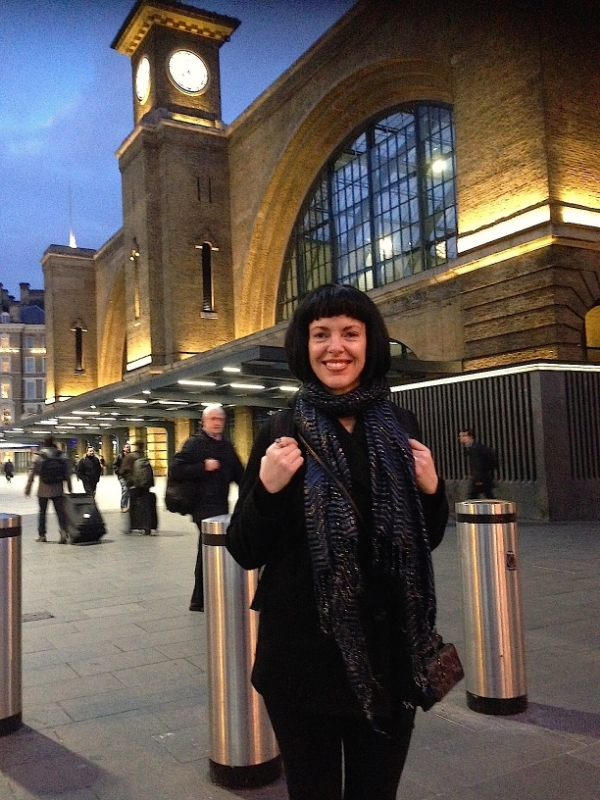 Me at King's Cross St Pancras Railway Station in London
