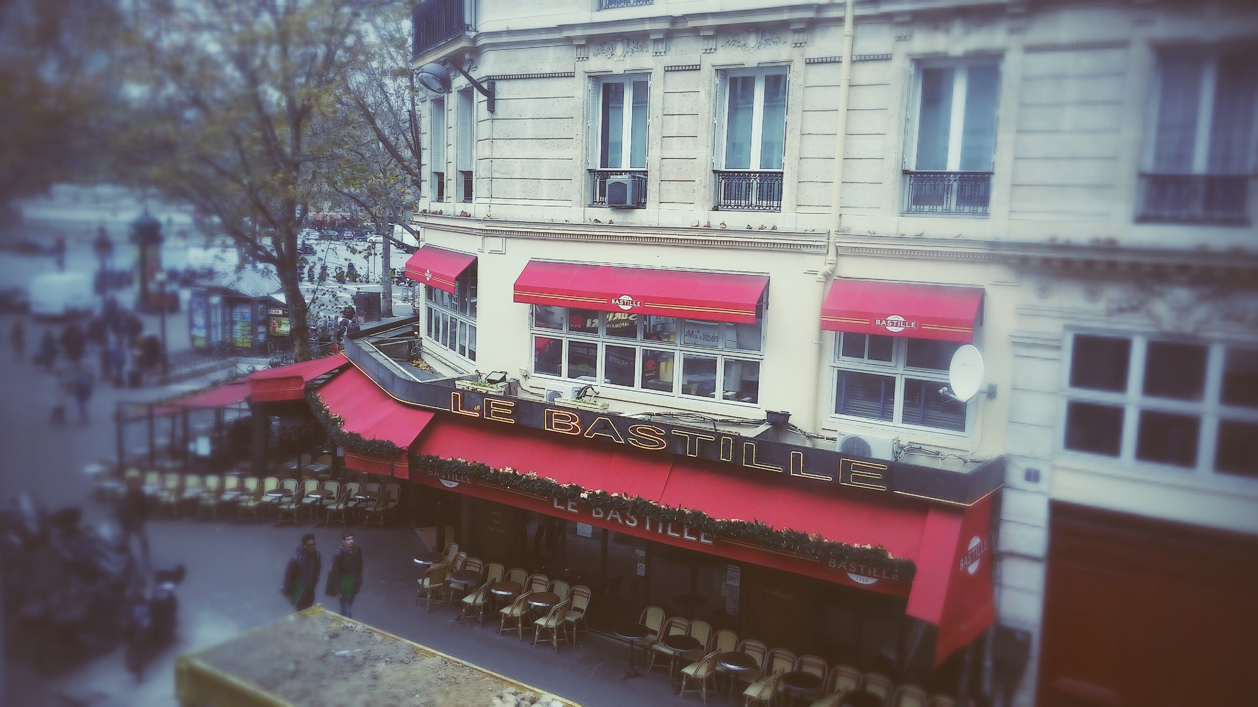 View from my room at the  Hotel Royal Bastille