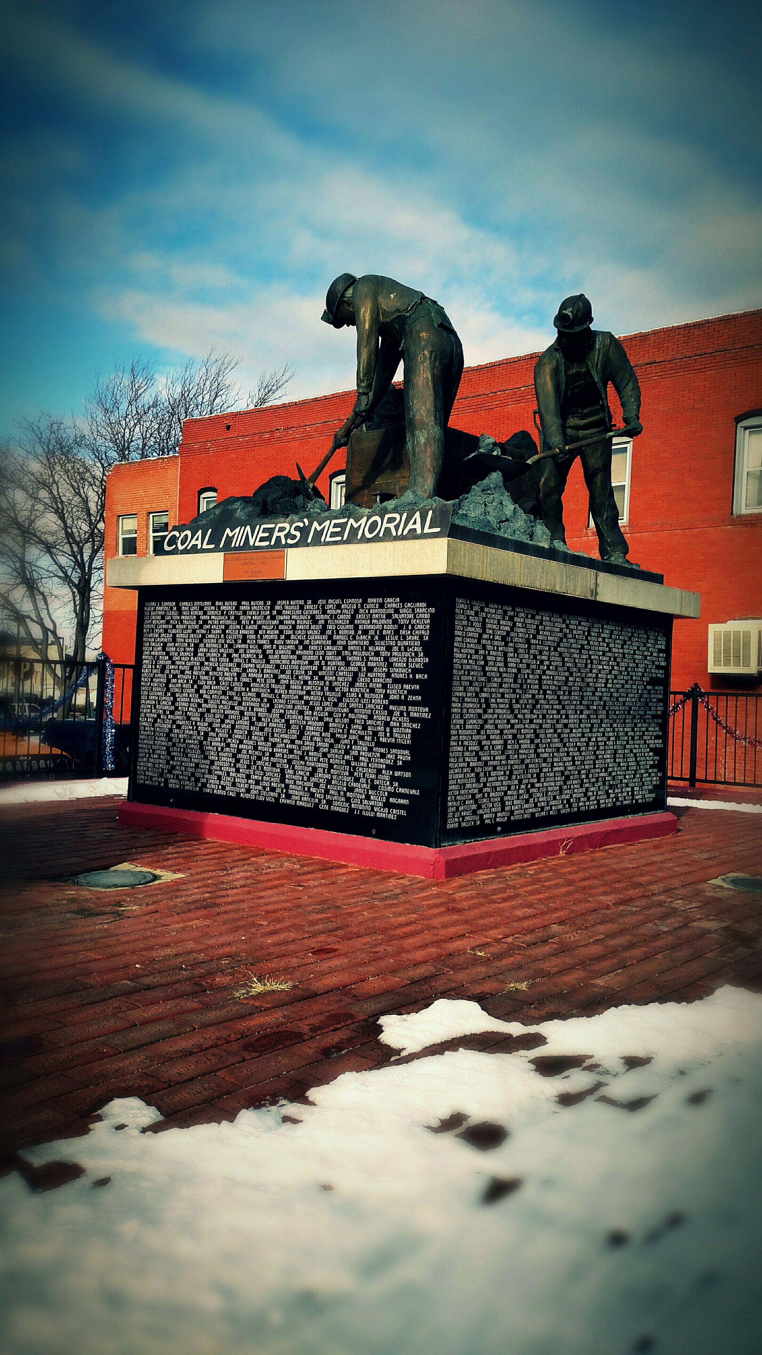 Coal miners' memorial in Trinidad, CO