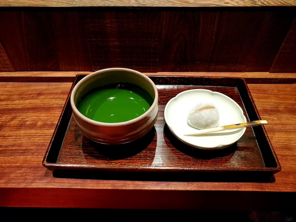 Green cocaine - i.e. matcha - at Ippodo Tea Store in Ginza, Tokyo.