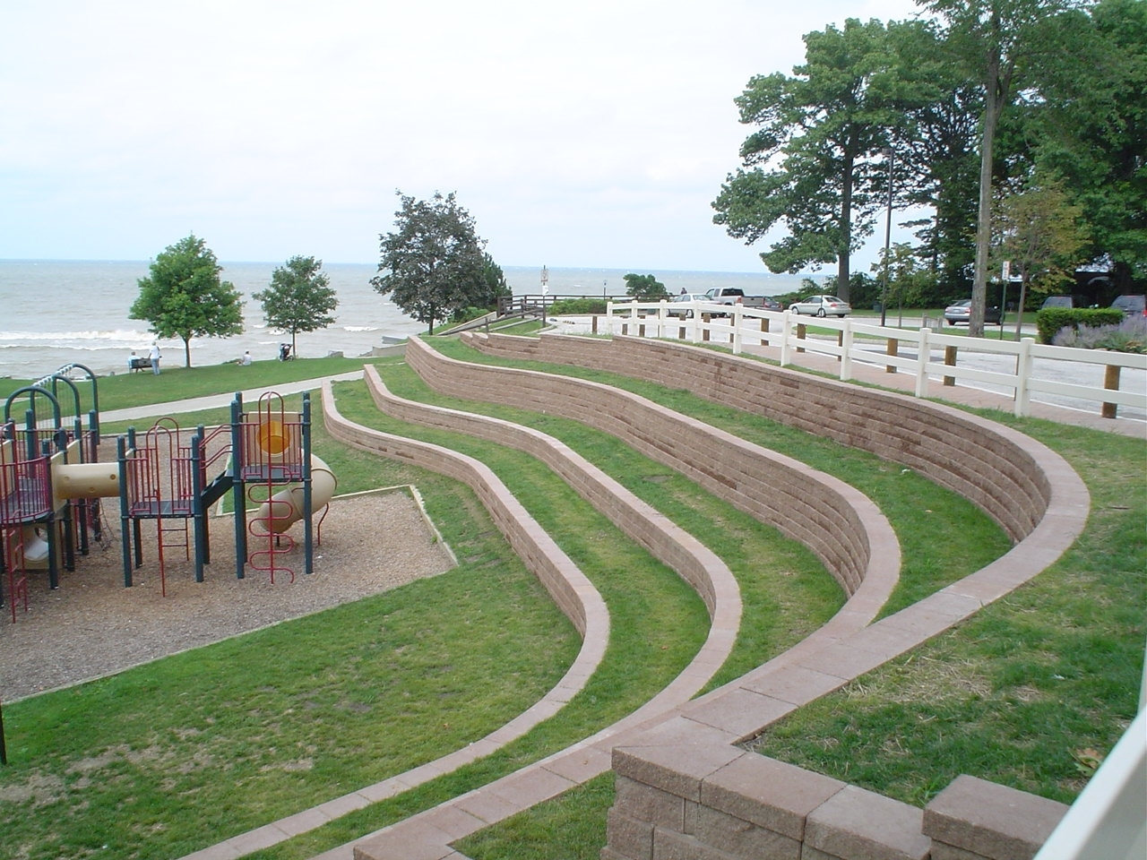 Rocky River Park landscaping and erosion control project