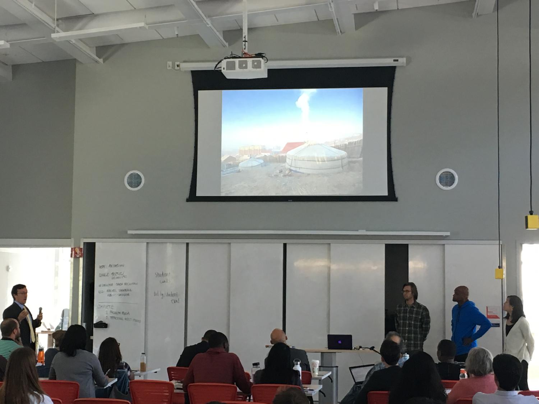 Students presenting in  Reimagining Slums  (Spring 2016)