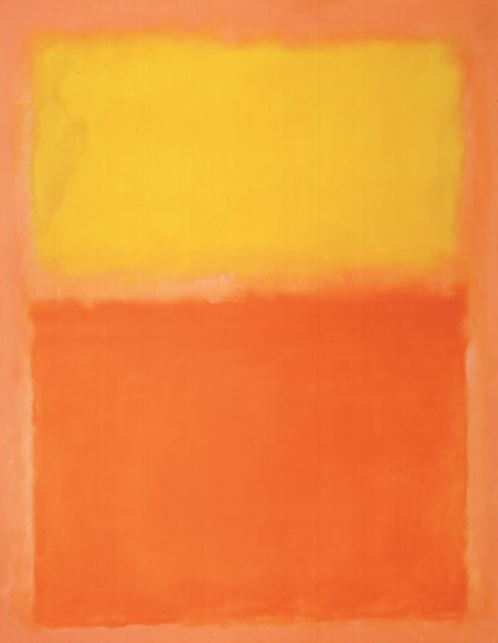I am  Mark Rotko 's  Orange and Yellow  (1956).