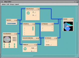 Figure 1: Map Editor visualizing air flow dynamics.