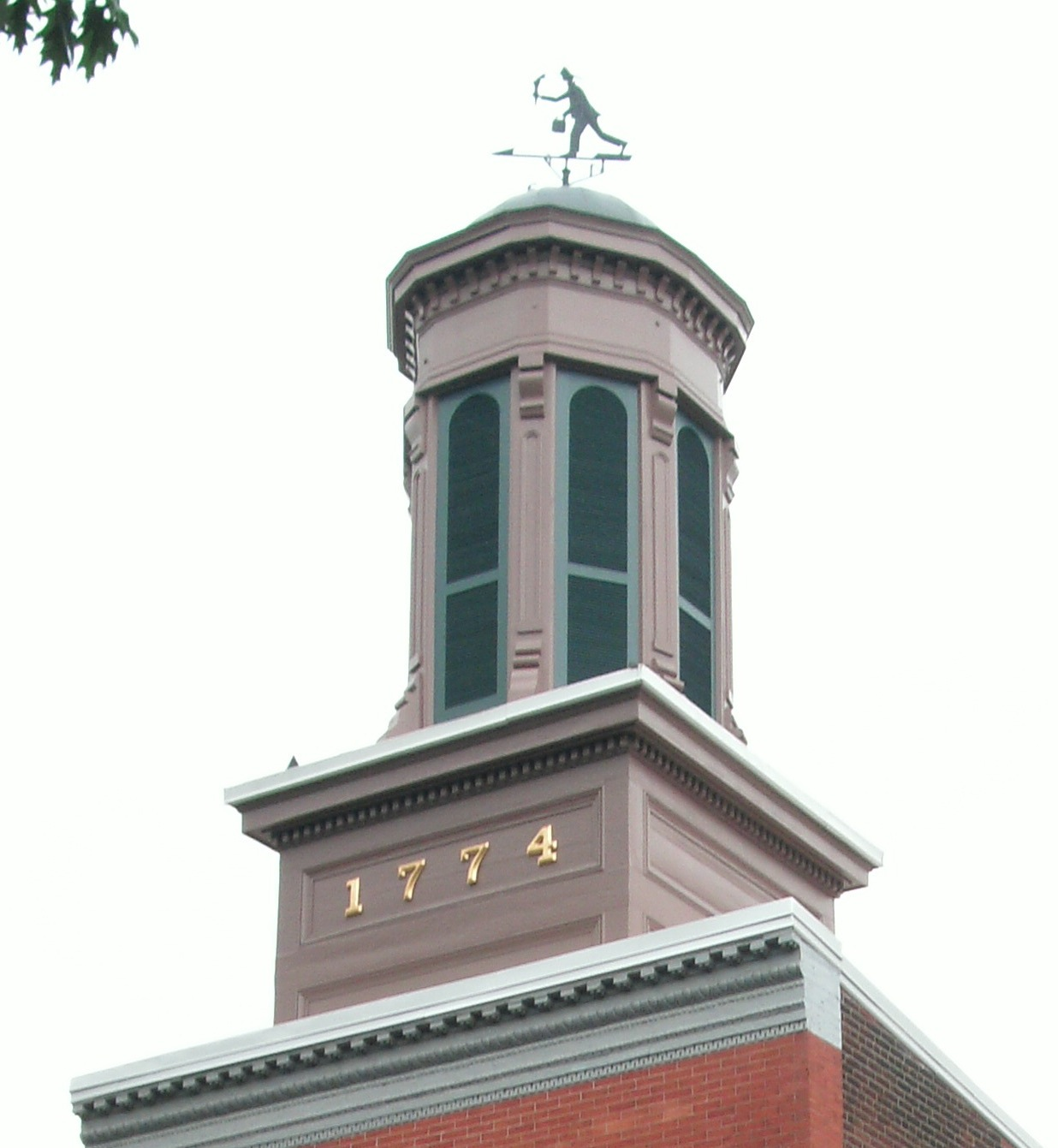 Close up of the mid-19th century cupola.