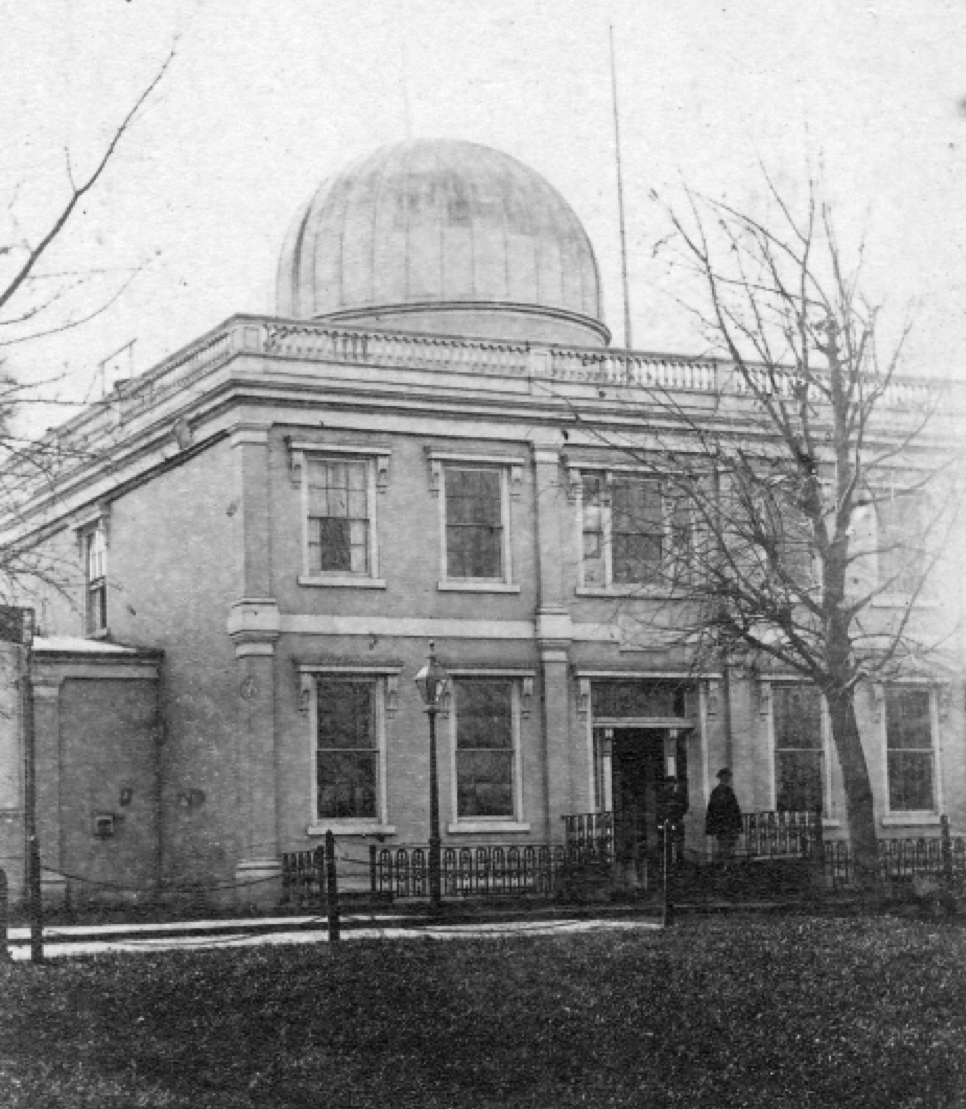 19th Century photo of the earliest part of the Observatory. Library of Congress image.
