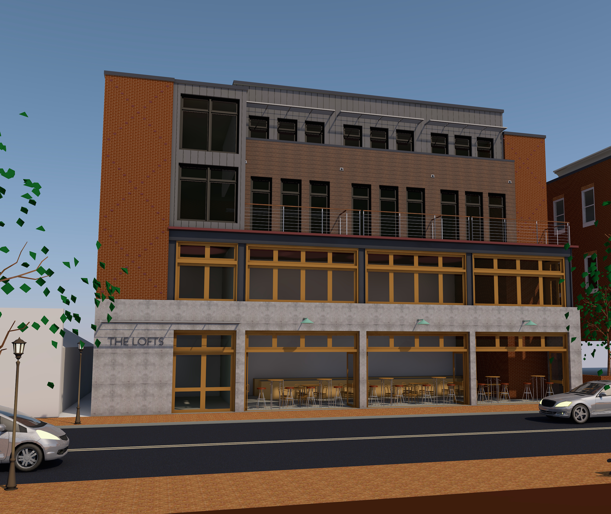 Mixed Use Commercial and Residential Building. A joint venture in association with Fred Sieracki Architects.
