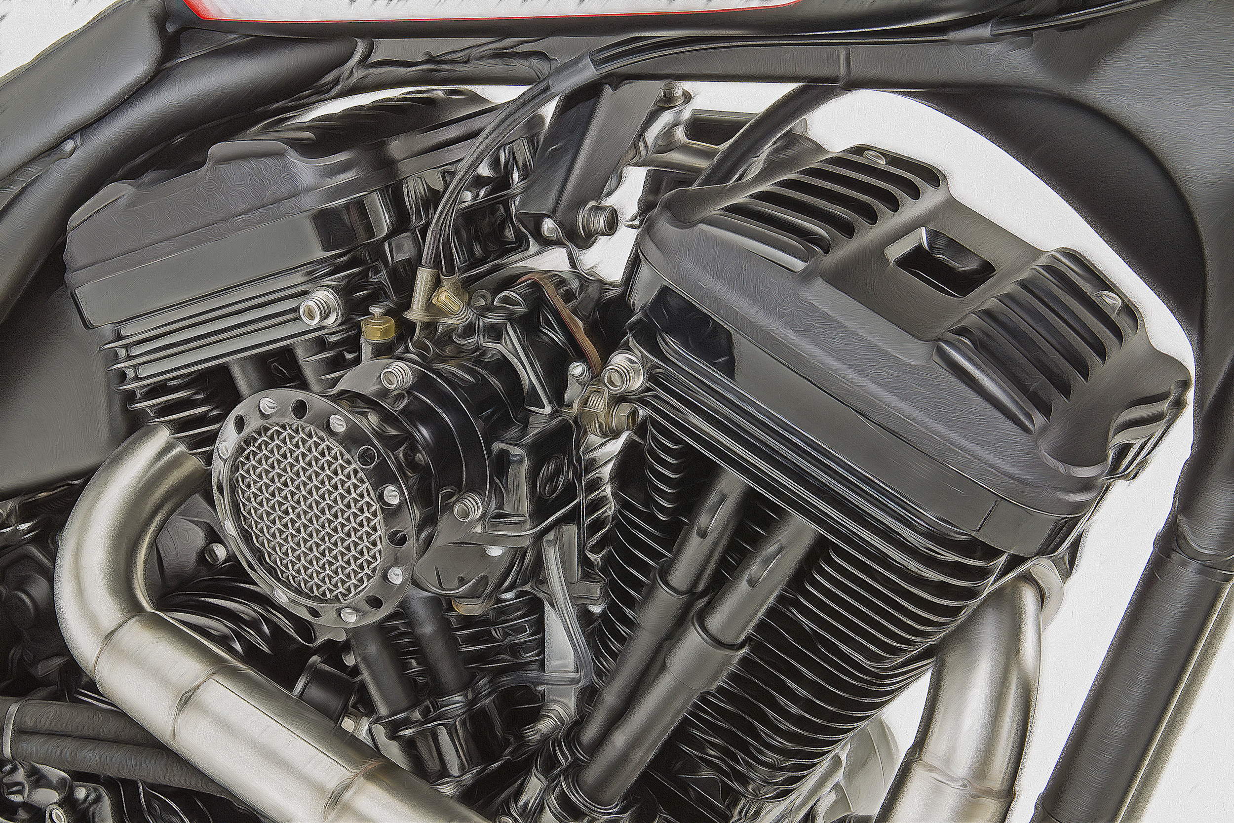 Roland Sands Custom; Engine