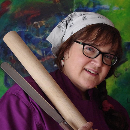 Elke Koch-Ulrich  founder of Elkes bunter Tortenkeller in Siegberg, Germany. 2016