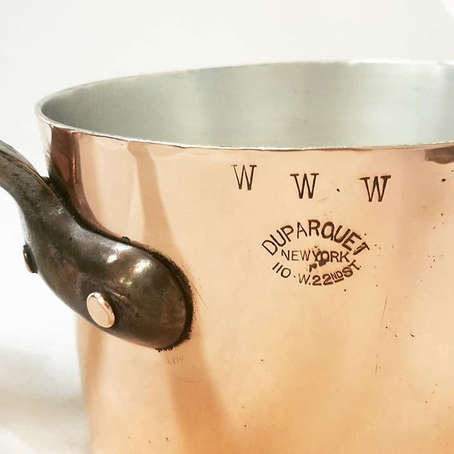 WWW........Duparquet.com.  Get it? 100yr old Duparquet sauce forsees the future. . . #East_Coast_Tinning #retinning #restoring #vintage #coppercookware #copperpots  #Duparquet