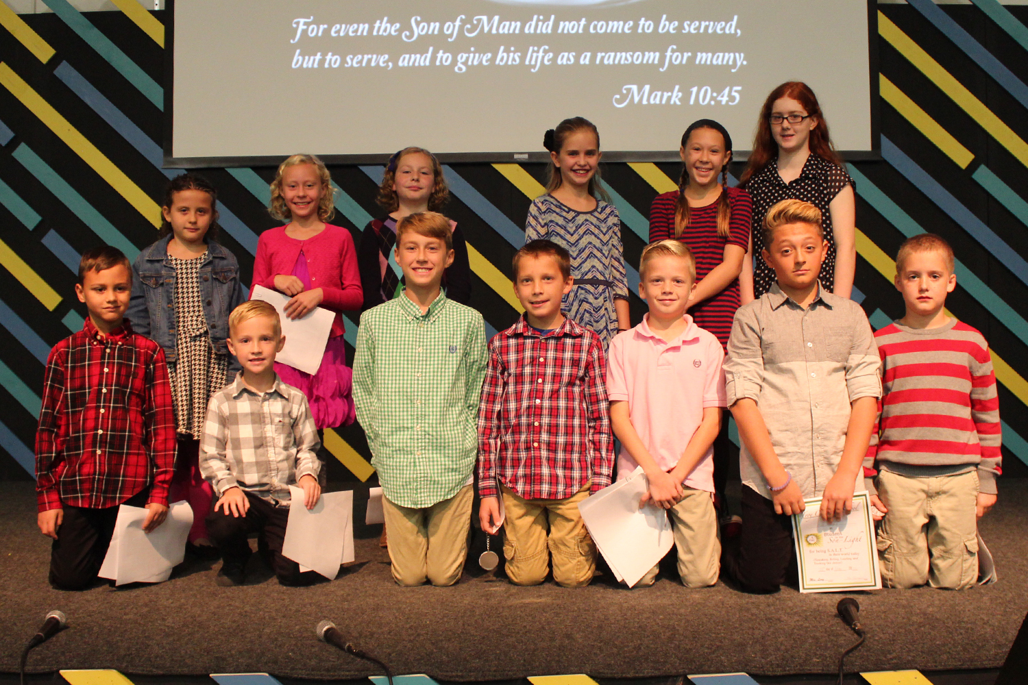 Congratulations to this week's Students In The Sonlight ~ October 28, 2016