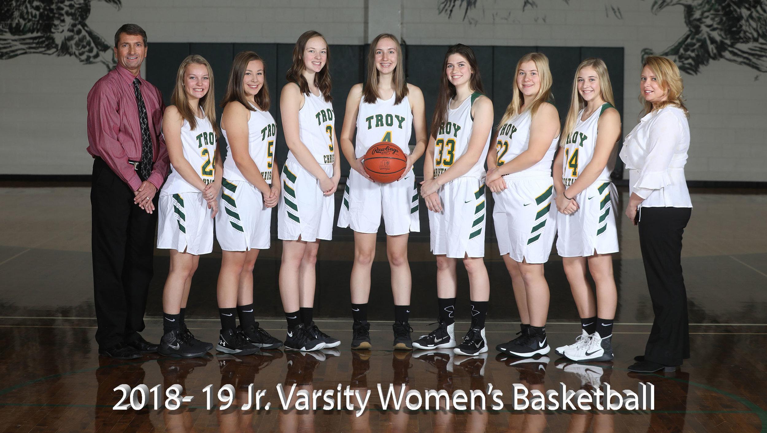 2017-18 Jr. Varsity Women's Basketball