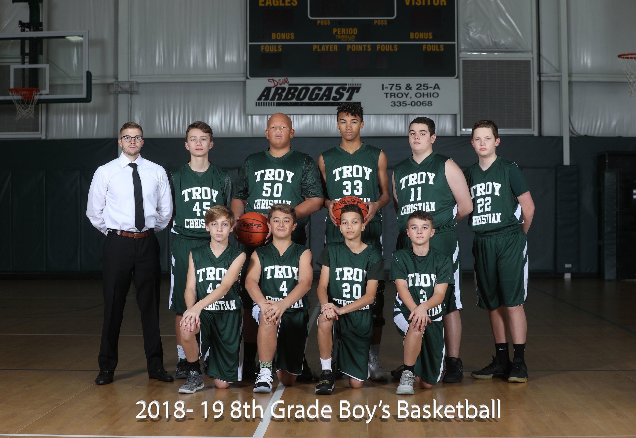 2017-18 8th Grade Boy's Basketball