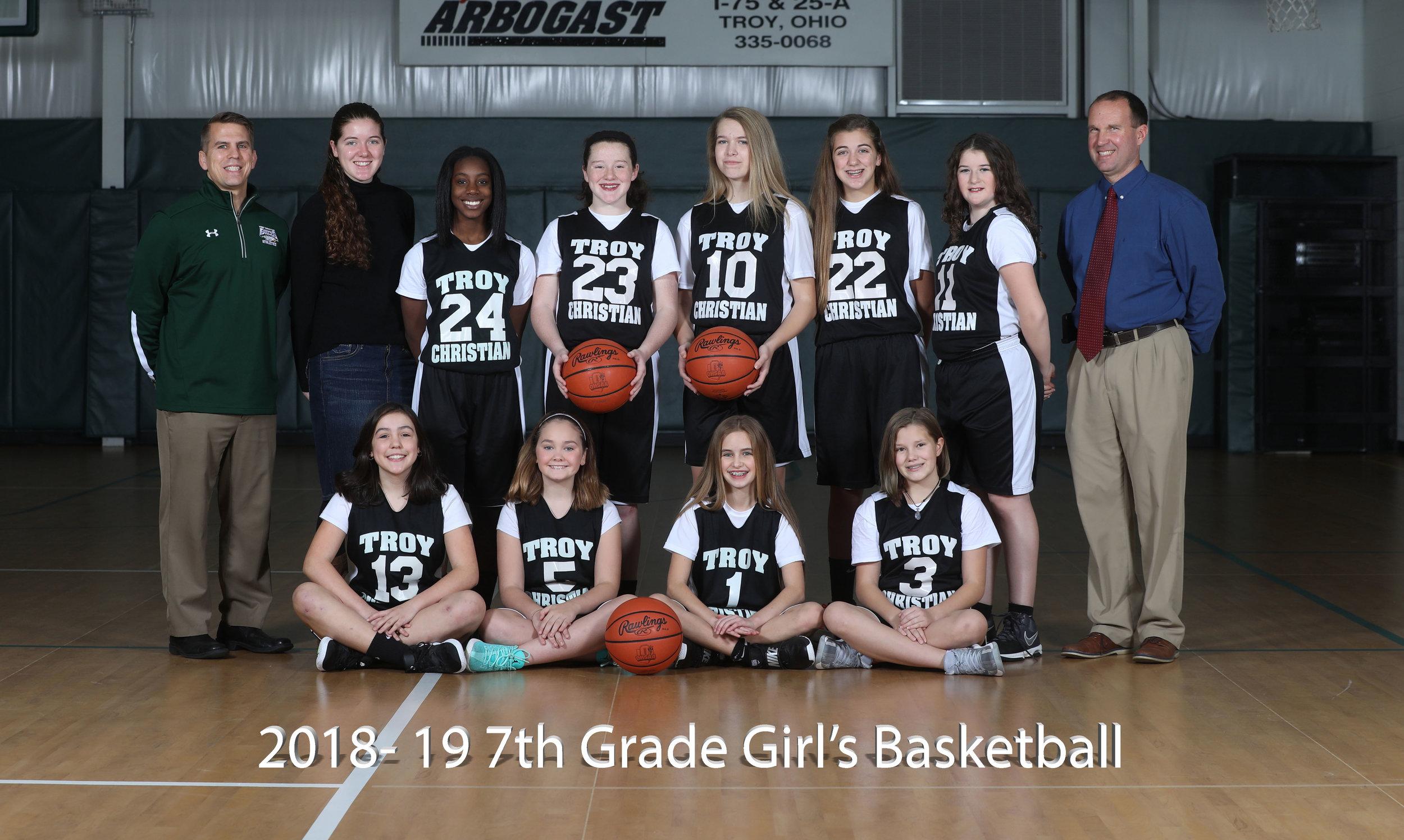 2017-18 7th Grade Girls Basketball