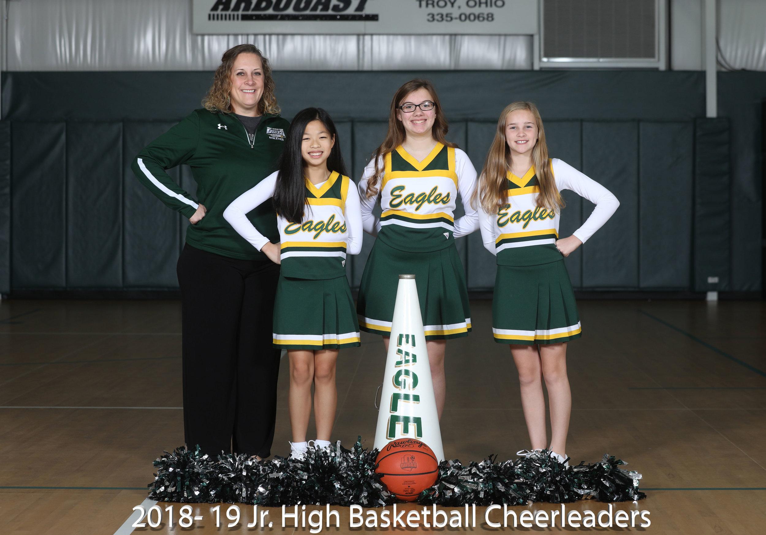 2017-18 Jr. High Basketball Cheerleaders