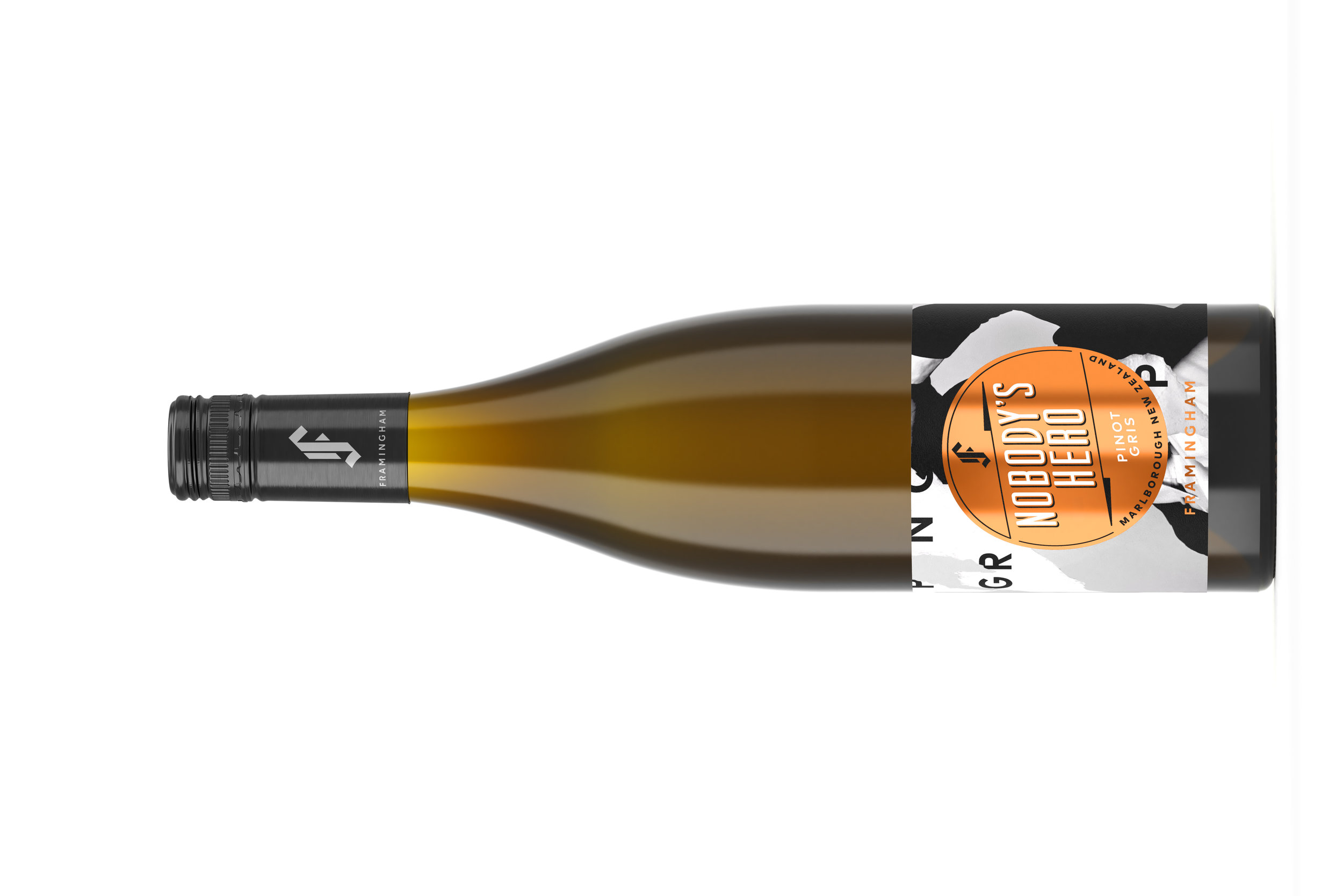 Noby's Hero Pinot Gris | ノーボティズヒーロー ピン グリー  マールボロワイラウヴァレー ¥ 2,950 2018, 750ml, オーガニック   91 Points-WineOrbit   An instant hit, our Pinot Gris kicks off with ripe and rich stone fruit notes, layers of baked apple, and juicy quince harmonies. The outro leaves you with a bold mouth-filling texture and a crowd-pleasing mineral finish.  ワインオービット 91ポイント。このピノ・グリは一瞬で、熟した豊かなストーンフルーツの香り、焼リンゴの層、そしてジューシーなマルメロのハーモニーを届けてくれます。 アウトローは、口いっぱいに感じるしっかりとしたテクスチャーと、誰もが喜ぶようなミネラリーなフィニッシュ。チキン、ポーク、ベジタリアン料理、チーズをどうぞ。  FOOD MATCH Enjoy with chicken, pork, vegetarian dishes and cheese.
