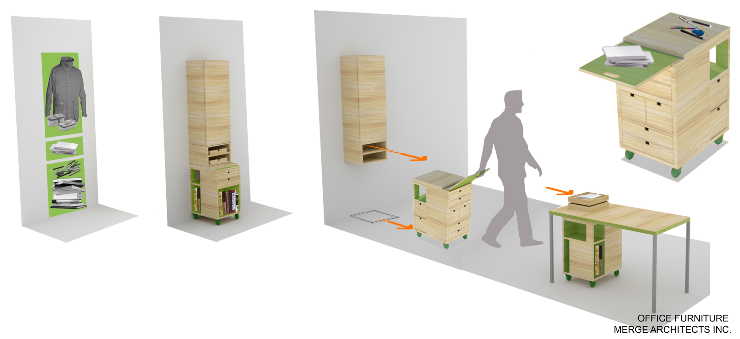 PORTABLE OFFICE FOR ONE, WITH MERGE ARCHITECTS