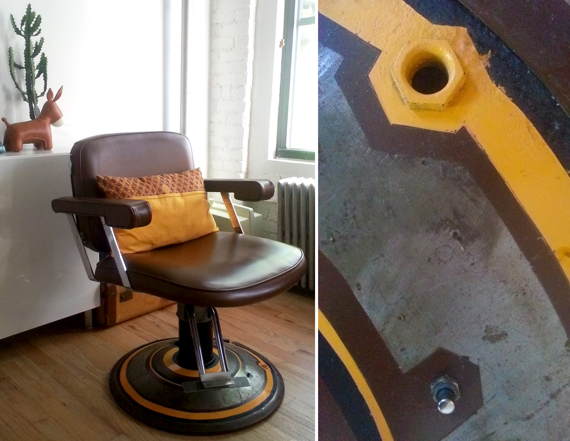 REFURBISHMENT OF THE PINK BARBER CHAIR