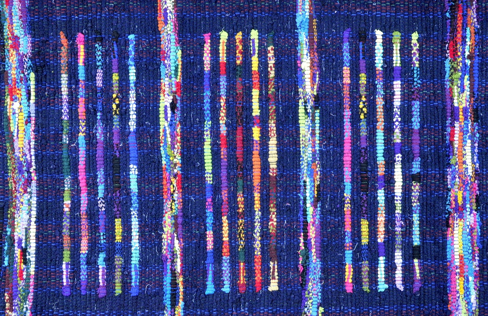 Detail of a rug woven from our scraps