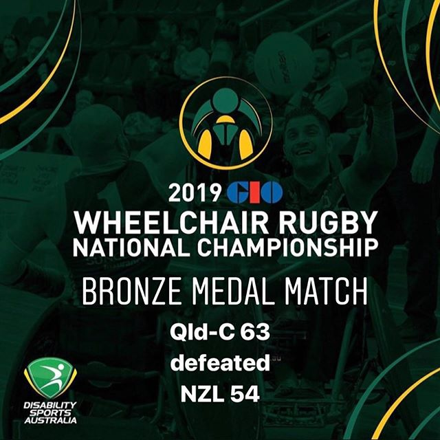 Day Three Bronze Medal Match Results of the 2019 GIO Wheelchair Rugby National Championships QLD-C 63 defeated  NZL 54 #wheelchairrugby #GIO #WRNC