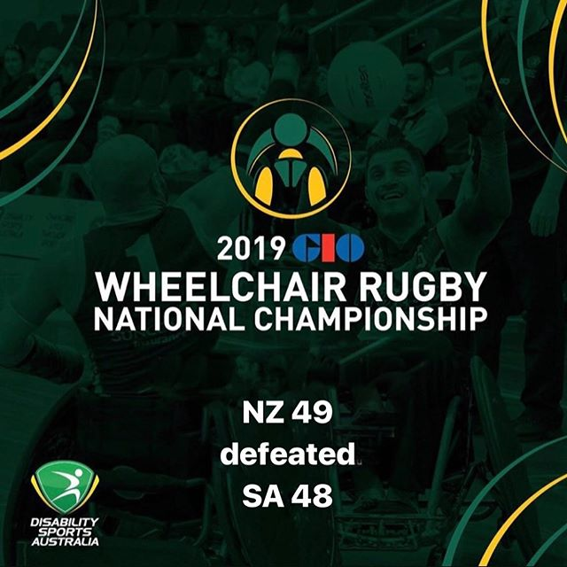 Day Three Game 3 results of the 2019 GIO Wheelchair Rugby National Championships NZ 49 defeated  SA 48 #wheelchairrugby #GIO #WRNC