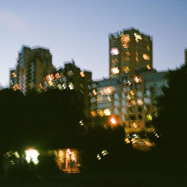season of dusk. - #yvr #somewheremagazine #kodizes #hurtlamb #35mm #pellicolamag #mood #nightscape #filmwave