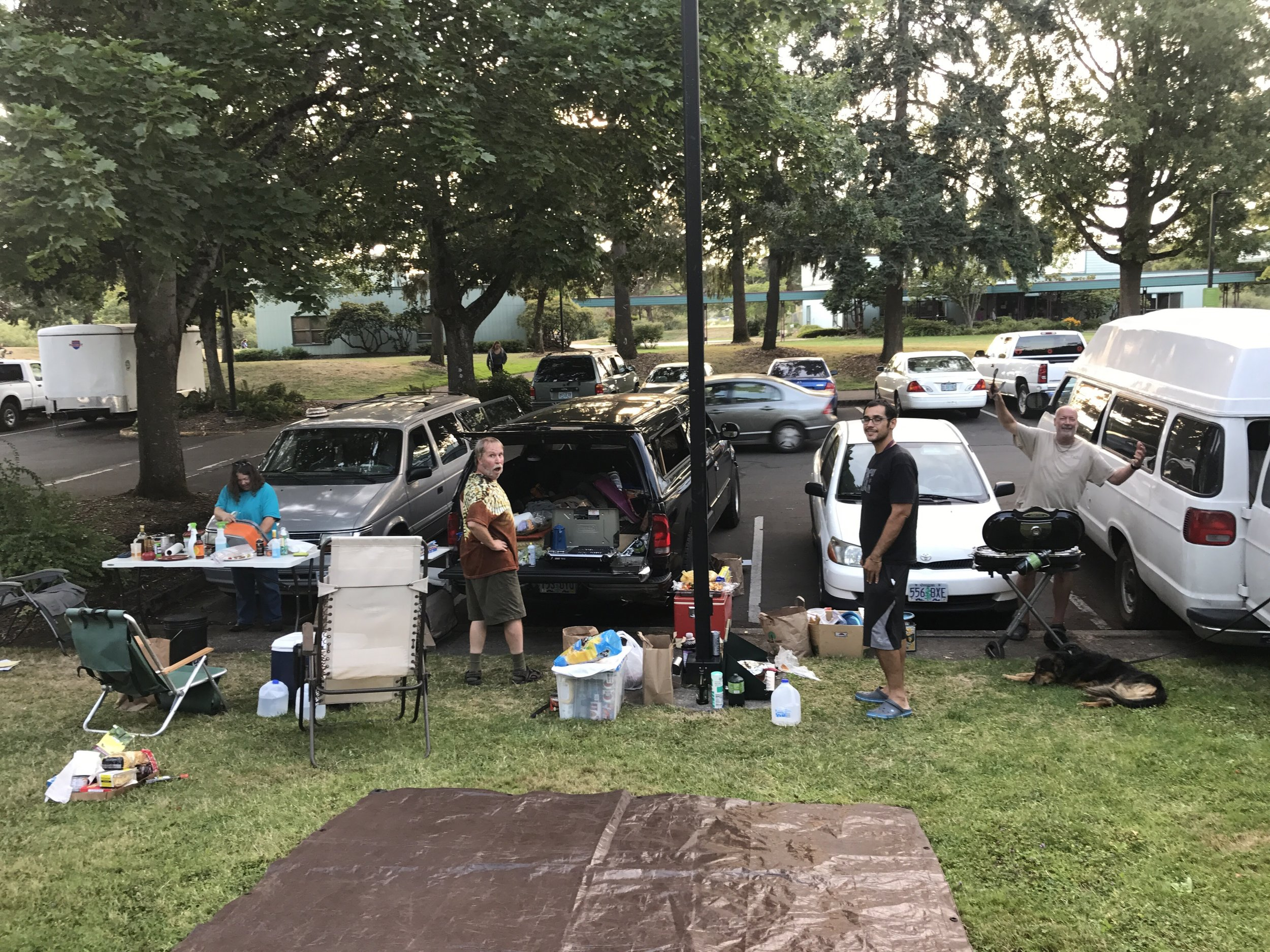 Vanlife cookout in Eugene, Or