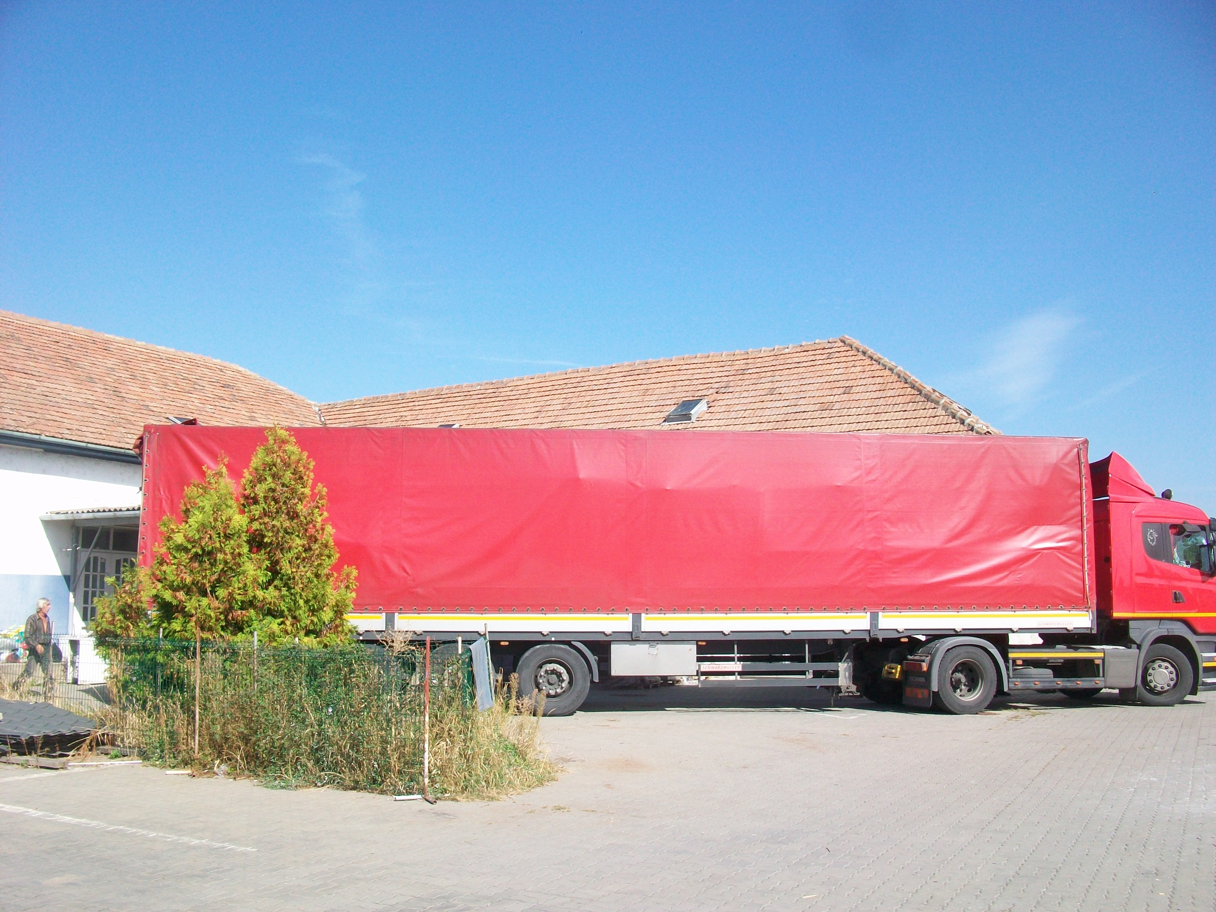 When the trucks come from Norway they are huge. 100 cubic metres and carrying 8 to 10 ton