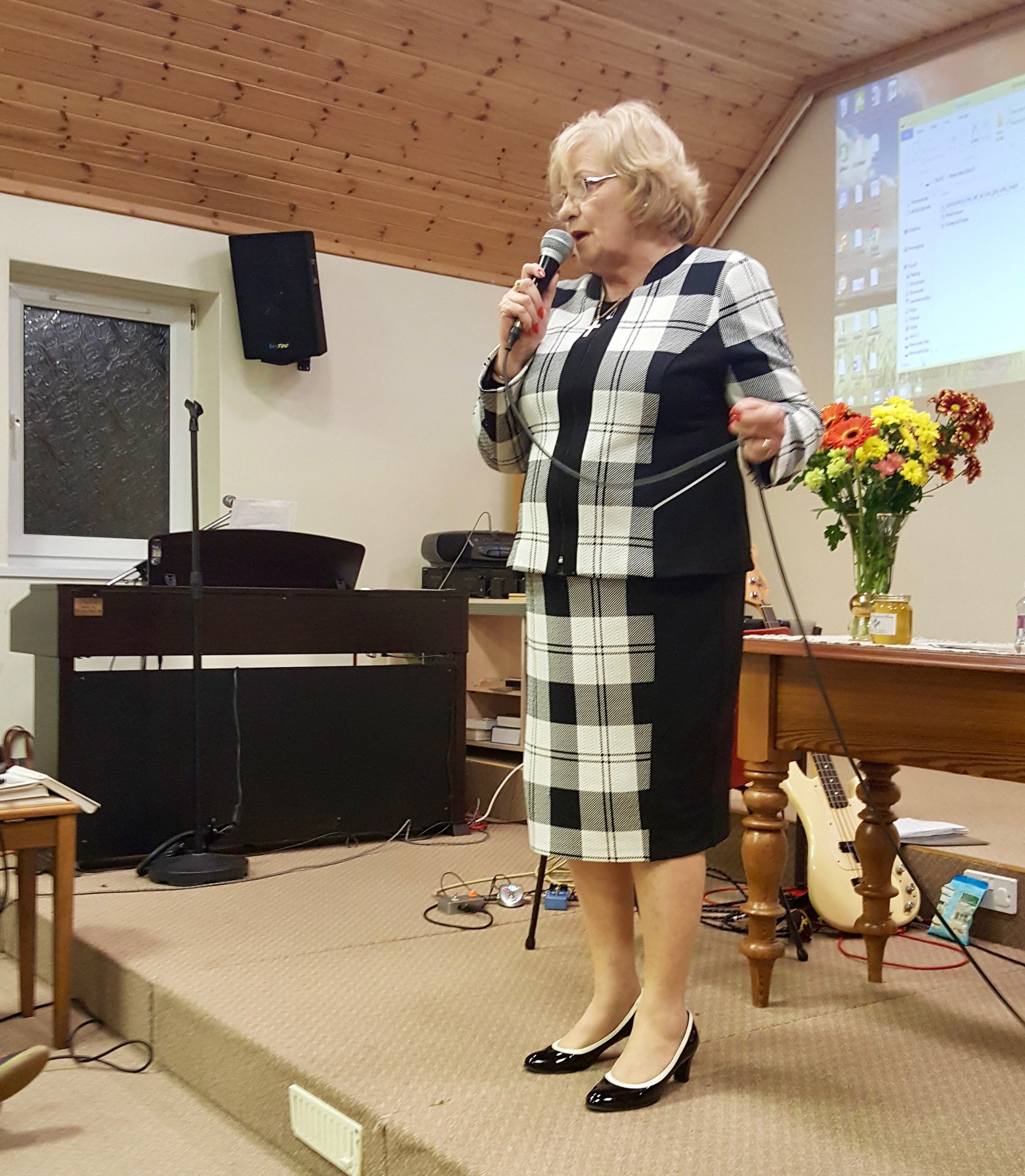 April talks of the Lord's work in Romania
