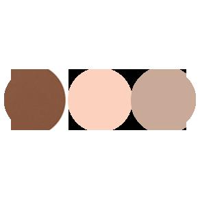 BROW THRILL L-R: 8 deep brown  588 brow-lite Brow Wax Tweezer Applicaton