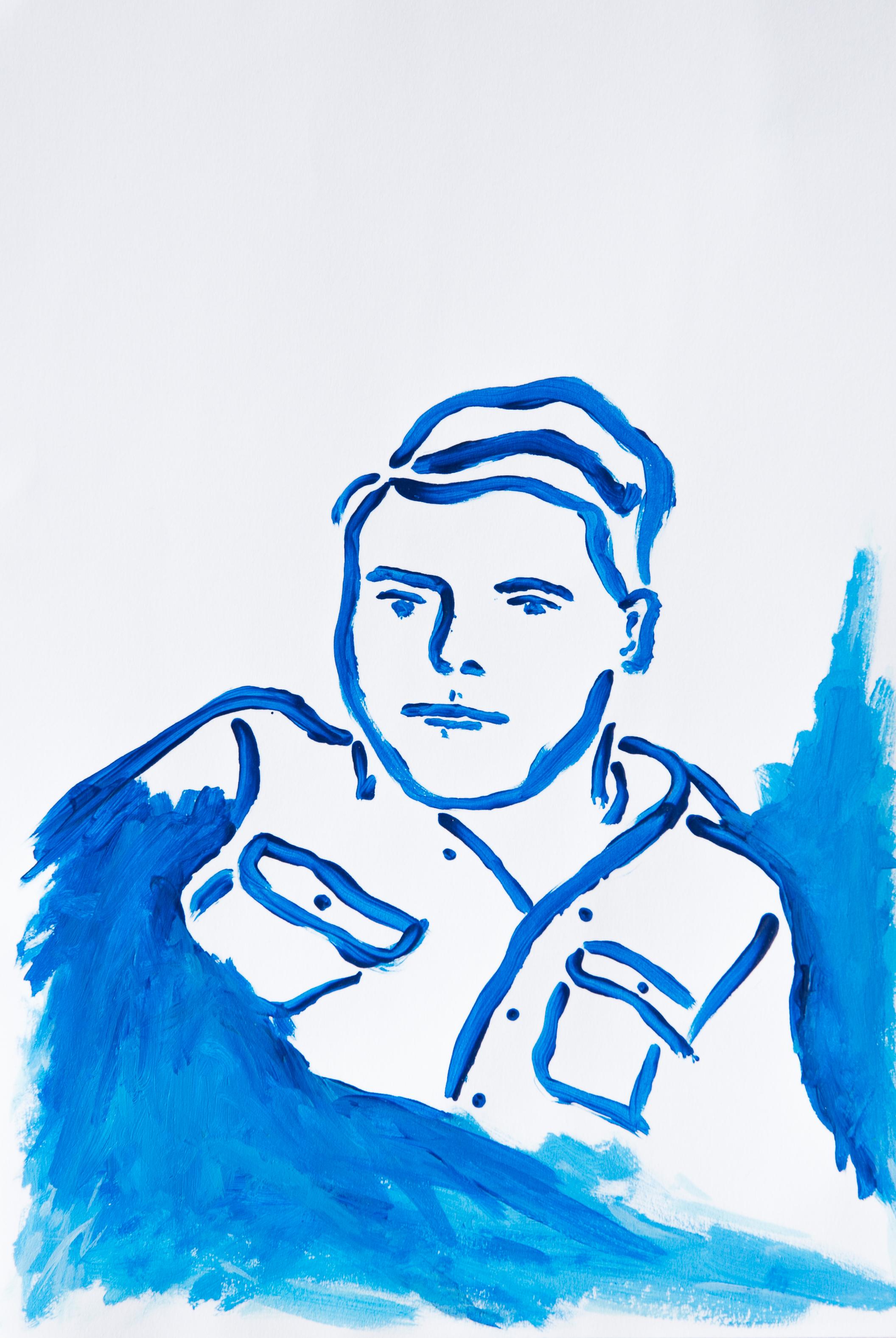 Brad in Blue,  2019