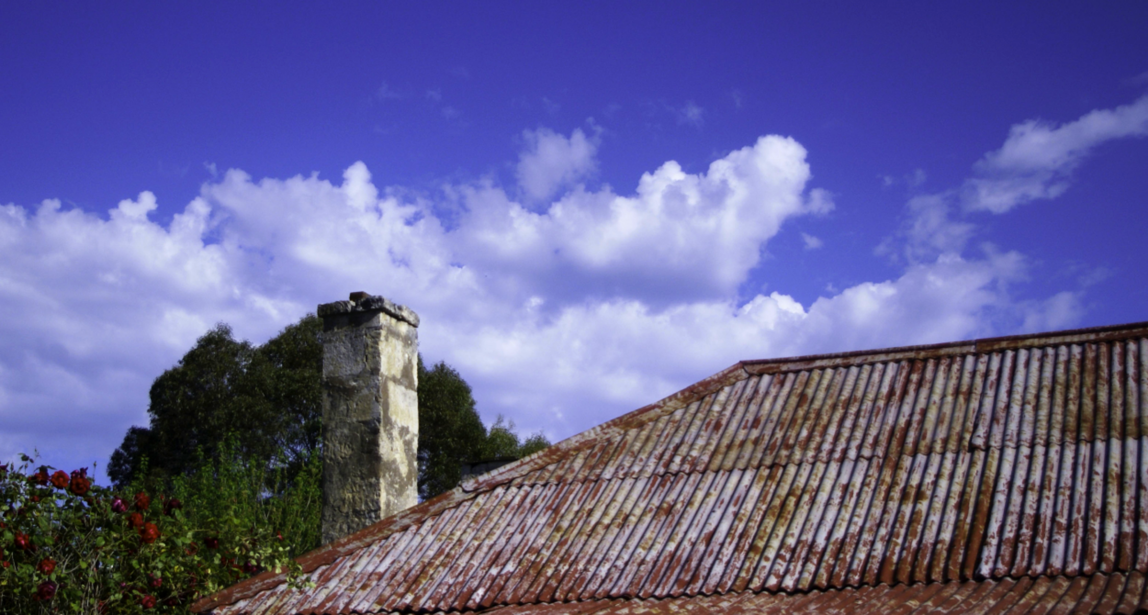 our old cottage roof on a beautiful Limestone Coast Day.