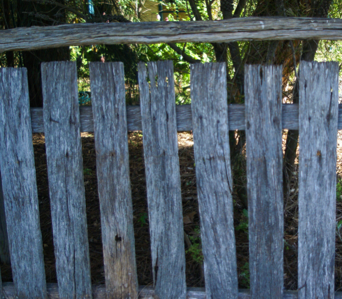 our old fence is full of stories.