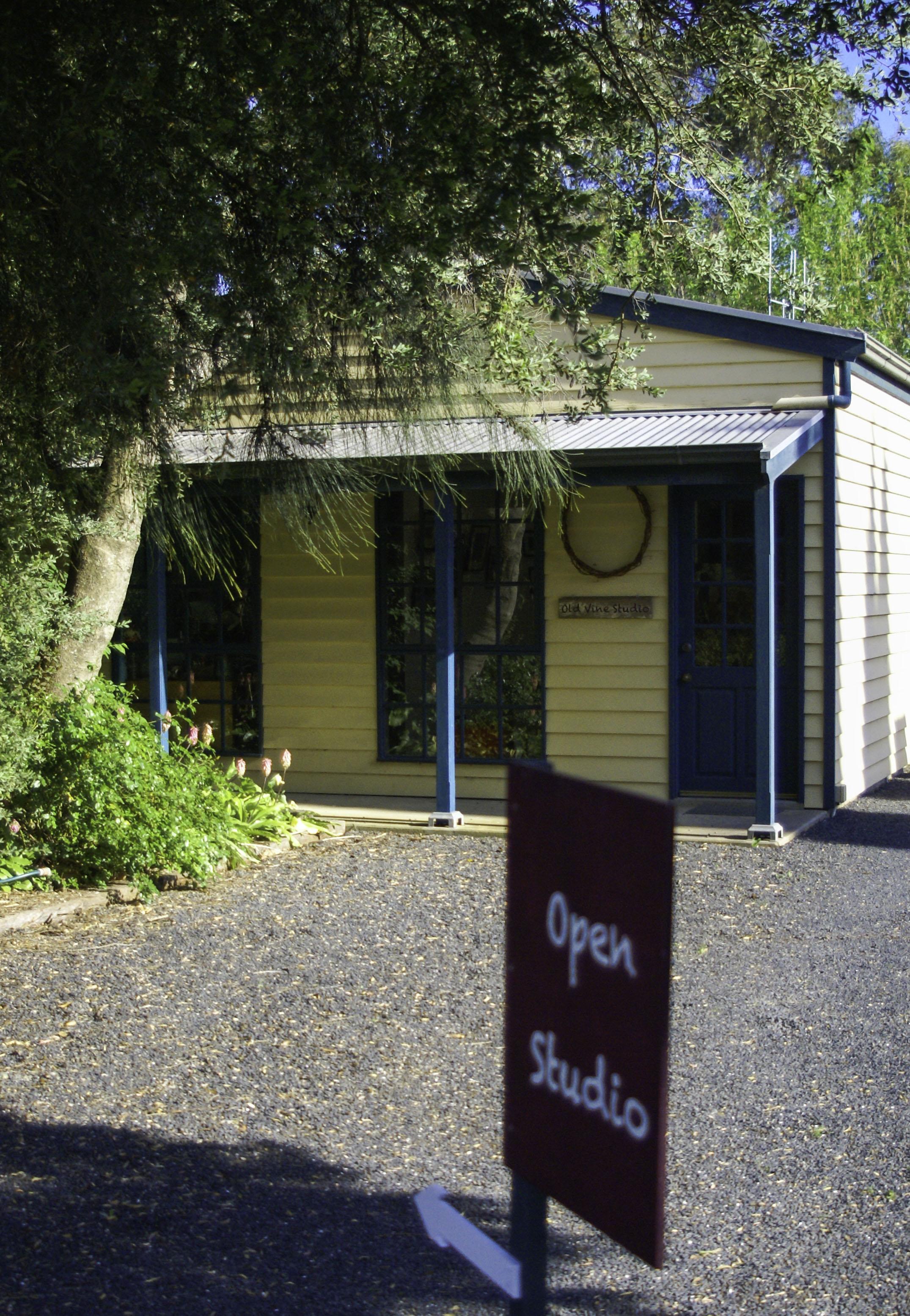 Old Vine Studio faces North towards vineyards.