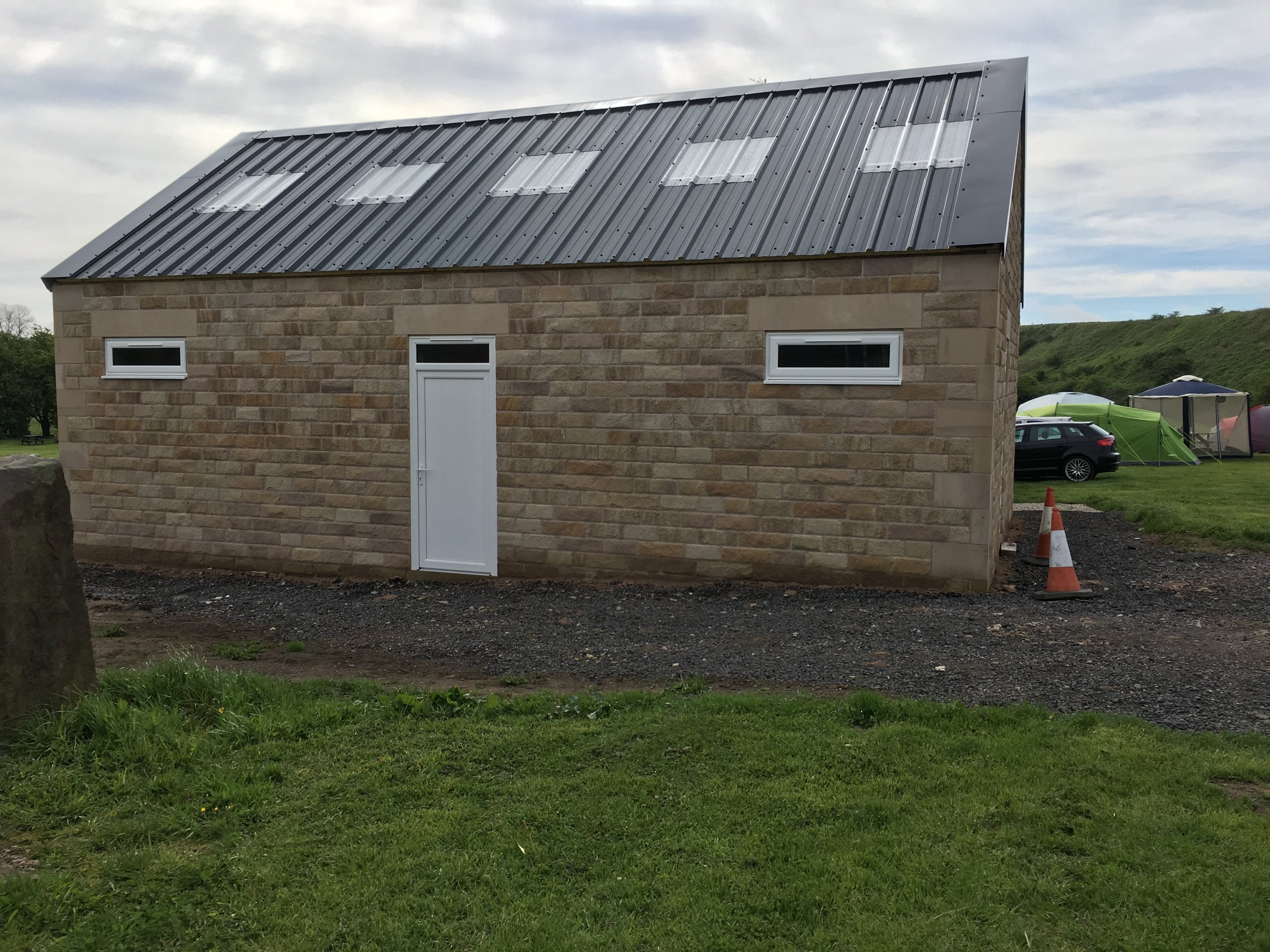 New toilet and shower block first stage of build, Now we have to kit out the interior, hopefully be ready towards the end of the season.🙂