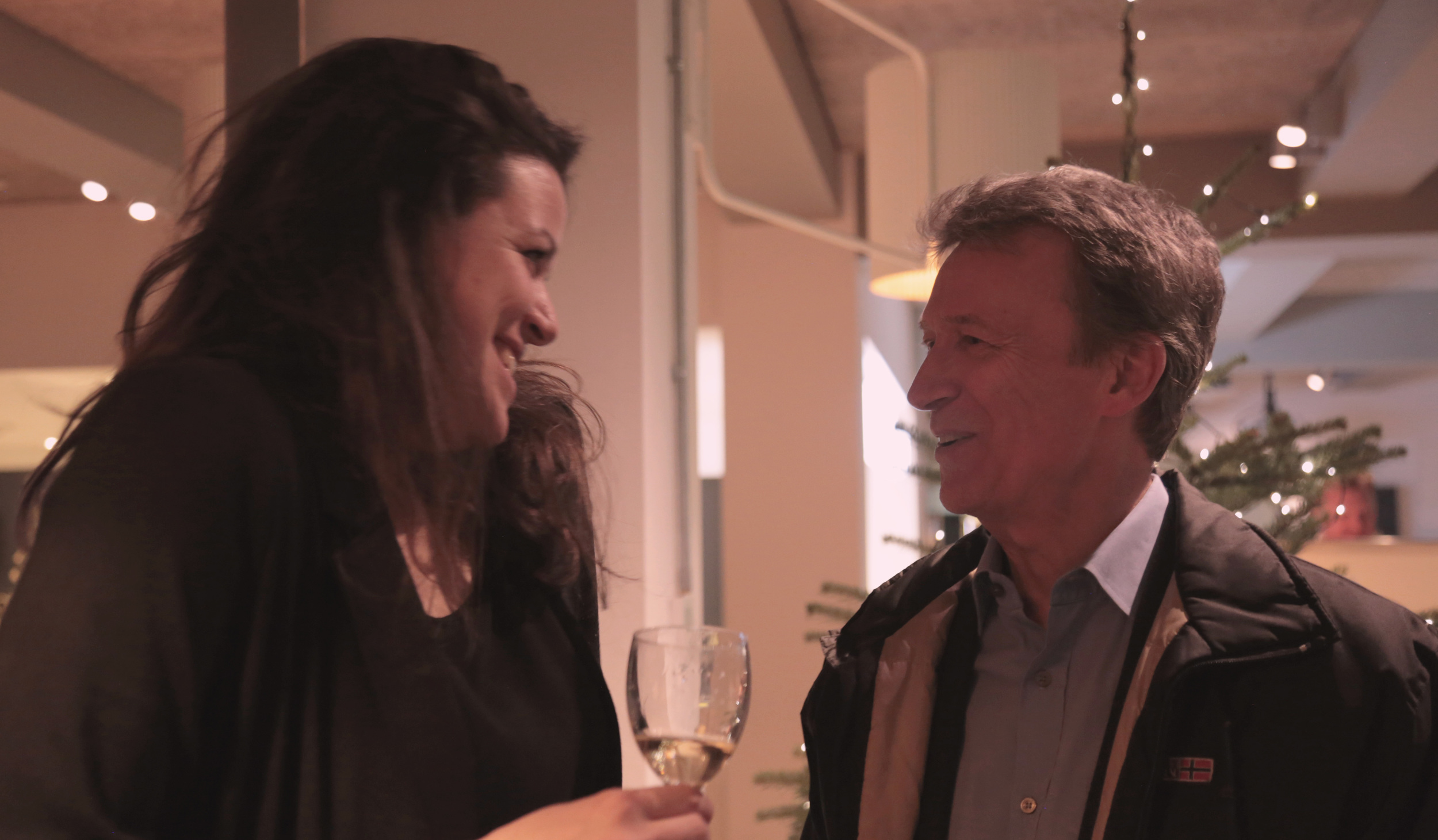 Writer and Director Natalie Malla with Producer Duncan Kenworthy