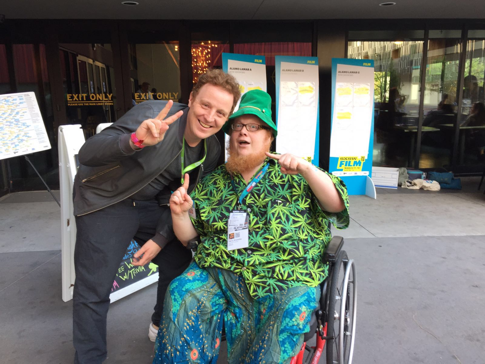 Director Matthew Jones with legendary film reviewer Harry Knowles