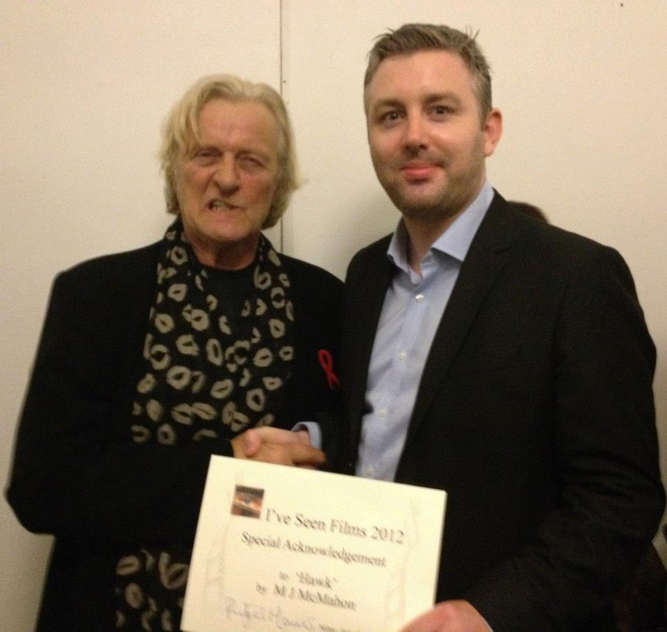Rutger Hauer and writer/director M J McMahon