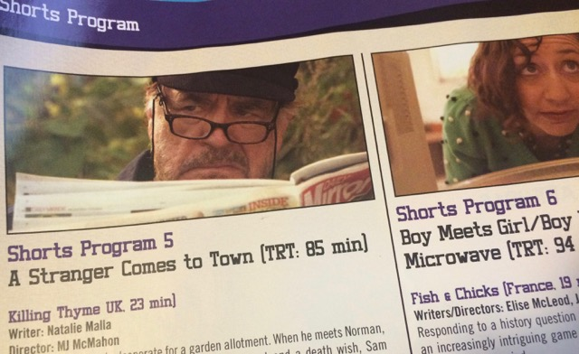Killing Thyme in the Austin Film Festival program