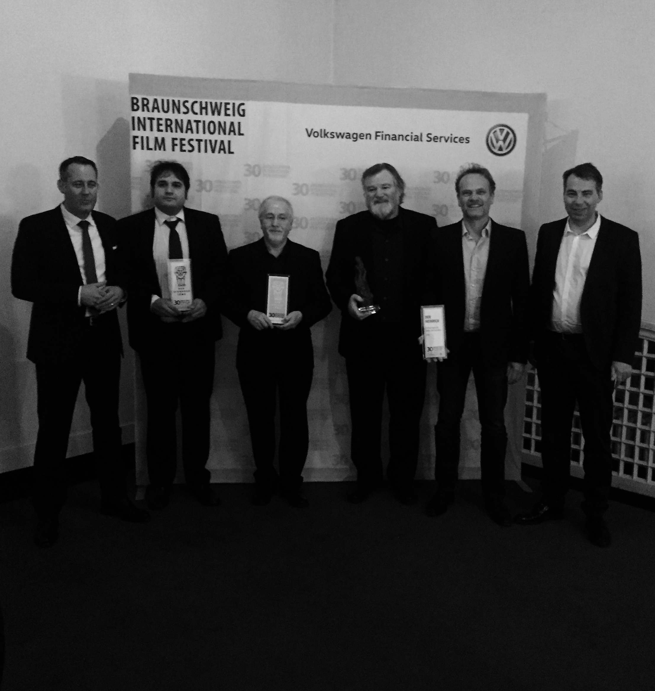 Award winners, composer Patrick Doyle and actors Brendan Gleeson and Reinout Bussemaker