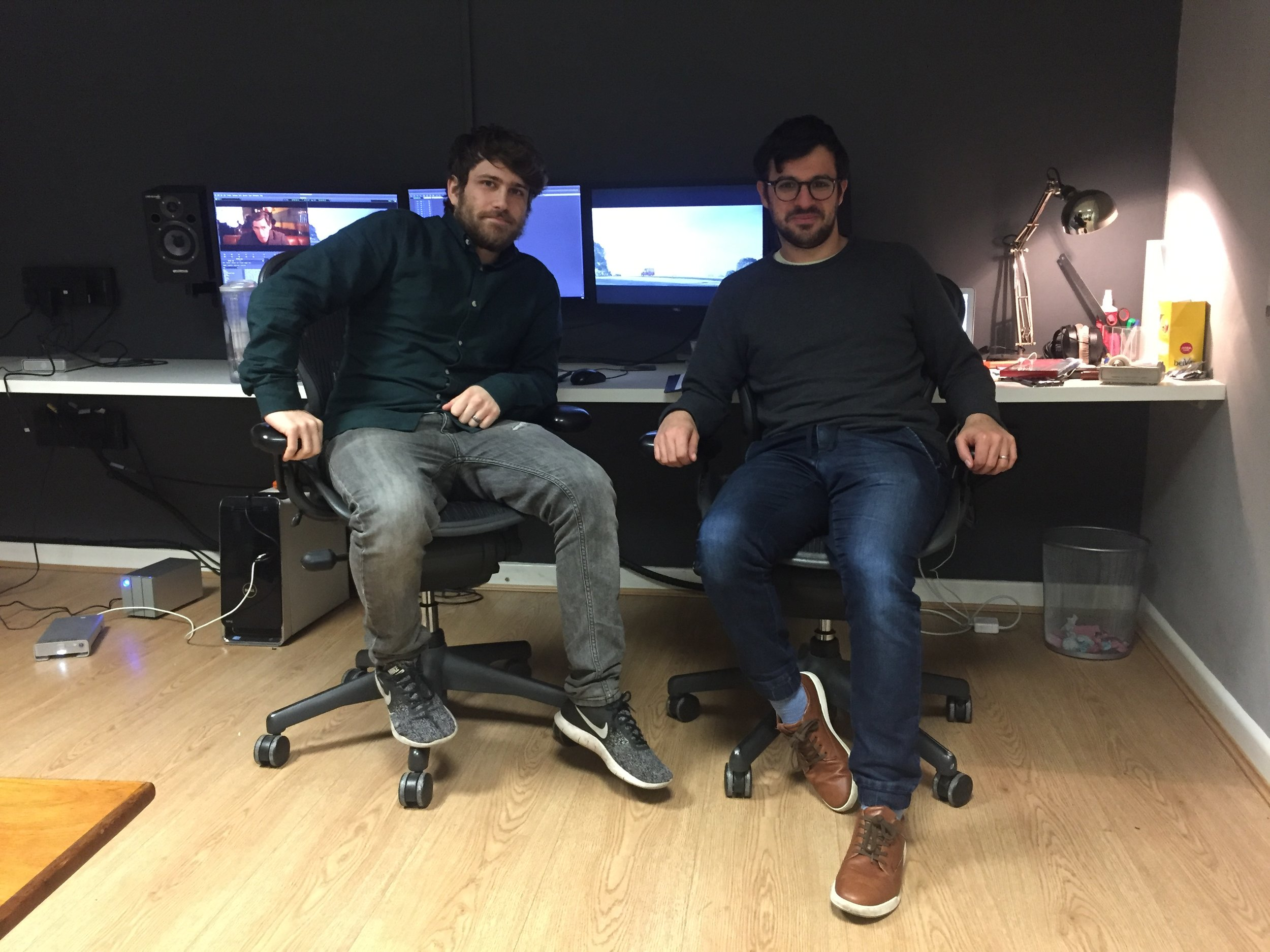 Simon and Ash are happily installed in our editing suite and working away on the cut.