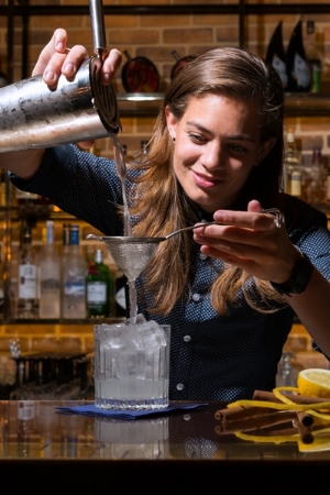 """Tess, from Door 74, says you can do a lot with genever, especially in the classic recipes. """"I love making a Martinez or an original genever Collins, especially for the summer, it's a very approachable cocktail and people can make it at home,"""" says Tess."""